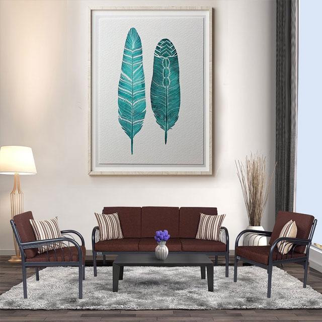 bộ bàn ghế phòng khách bằng sắt