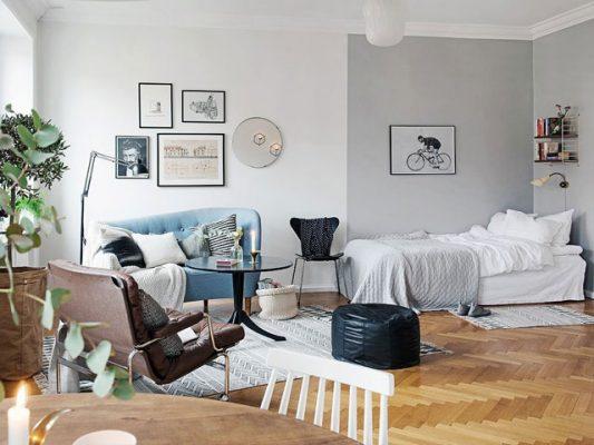 Thiết kế phòng khách liền kế phòng ngủ